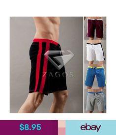 fca5fa20b9fa4a Men Loose Shorts Draw-String Half Sports Trunk Home Slack Beach Sleepwear  Pants #ebay
