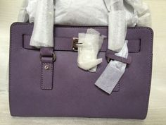 NWT MICHAEL KORS HAMILTON WISTERIA SAFFIANO LEATHER EAST WEST SATCHEL  #MichaelKors #Satchel