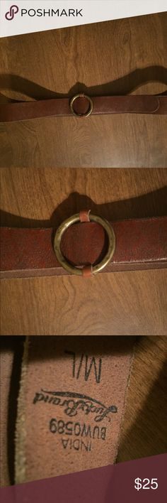 """Lucky brand belt Size M/L. brown with little leaf design ( hard to see in pictures)  measures 39"""" end to end. In EUC Lucky Brand Accessories Belts"""