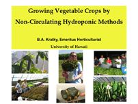 Talk on the Kratky non-circulating hydroponics system by Professor Bernie Kratky himself, showing a variety of vegetables that you can grow with this very inexpensive method.
