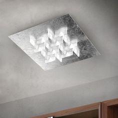 Cristalli LED Deckenleuchte Braga in blatt-silber
