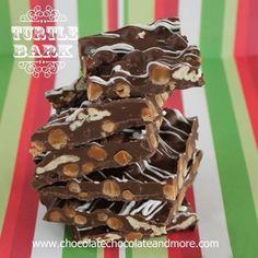 """Barre de chocolat très décadente -chocolat """"Turtles"""""""