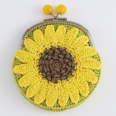 crochet flower motif purse