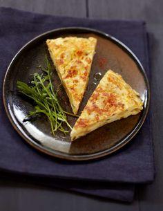 Tortilla crémeuse au chèvre-boîte