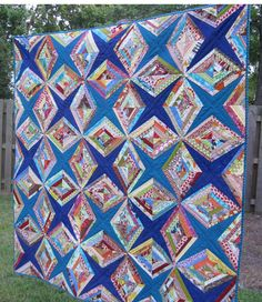String Quilt - visit original page for some construction tips. Star Quilts, Quilt Blocks, Quilting Designs, Quilting Projects, Quilting Templates, Quilting Ideas, Embroidery Designs, Crumb Quilt, Scrap Quilt Patterns