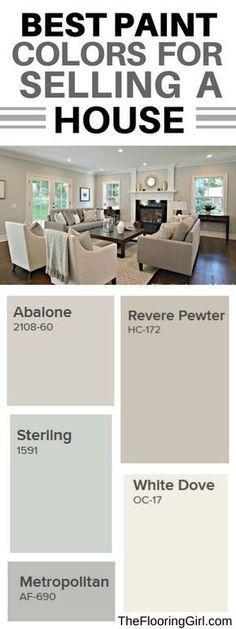 Best paint colors for selling your house #paint #color #sellinghomes #PaintColors