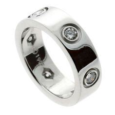 Cartier 6 Diamond Love Ring in White Gold