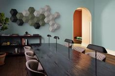 Danish consumer electronics company Bang & Olufsen launched the Beosound Shape wireless speaker system ahead of an August release. The modular sound system is made up of hexagonal shapes with varying colors, and looks more like wall-mounted artwork than a traditional sound system.