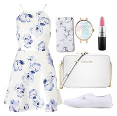 """""""Untitled #2"""" by emilyharwoodx on Polyvore featuring Lipsy, Vans, Michael Kors and MAC Cosmetics"""