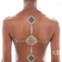 Beyonce Co-Designs New Flash Tattoo Collection : Fashion : Fashion . Tattoo Flash, Flash Tats, Gold Tattoo, Metal Tattoo, Beyonce Tattoo, Festival Gear, Co Design, Latest Jewellery, Gypsy Style