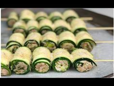 INVOLTINI DI ZUCCHINE RIPIENI DI TONNO - RICETTA SEGRETA DELLA NONNA GUSTOSISSIMI E VELOCISSIMI - YouTube Antipasto, Happy Hour, Keto Recipes, Sushi, The Creator, Food And Drink, Appetizers, Pasta, Troll
