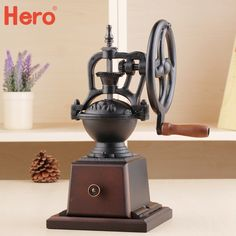 135.00$  Buy here - http://alitjz.worldwells.pw/go.php?t=32599008355 - Free shipping Hand grinder retro household  Fresh  manual mill Coffee Grinders Coffee Grinders 135.00$