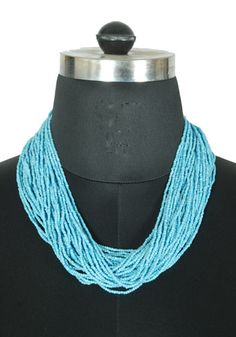 Light Blue Beaded Tribal Necklace – Desically Ethnic