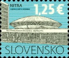 Stamp: The Slovak University of Agriculture in Nitra (Slovakia) (Definitive Issues - Cultural Heritage of Slovakia) Mi:SK 808,Yt:SK 708,POF:SK 628