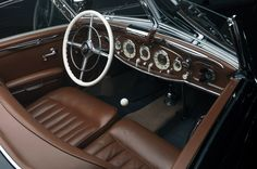 Gisela von Krieger   1936 Mercedes-Benz 540 K Interior