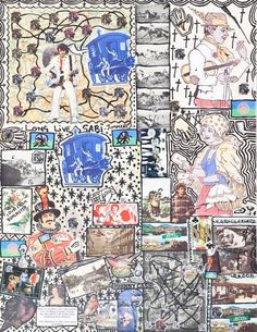 Damian Le Bas, Doncsater Gypsy I, 2008 Collages, Gypsy, It Works, Paintings, Artist, Stockings, Paint, Painting Art, Artists