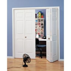 "18x80"" Primed White 6- Panel Bi-Fold Door | HD Supply"
