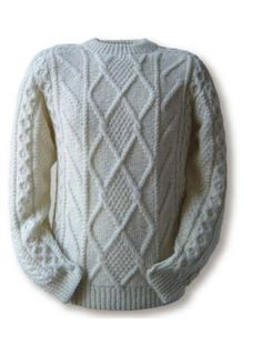 Clan Aran sweaters -- Clan White