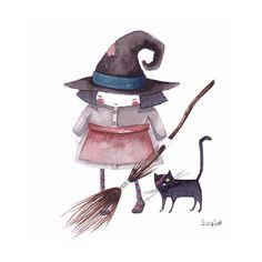 "Snezhana Soosh, ""La bruja y su gato negro"""