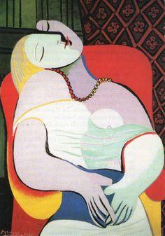Femme endormie dans un fauteuil - Pablo Picasso (1932)