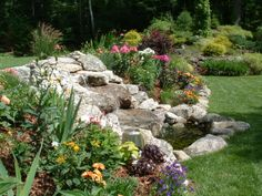 Waterfall in a private garden - Winnipesaukee PhotoPost Gallery