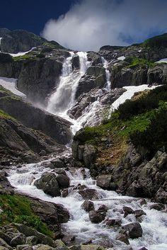 Tatra mountain waterfall Slovakia