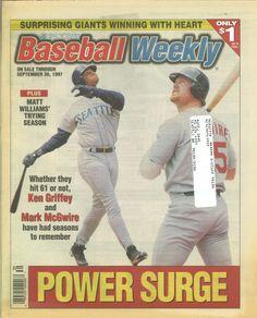Ken Griffey Jr., Baseball Weekly (September 1997) #Mariners