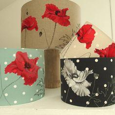 Poppy Lampshade On Linen