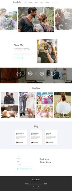 Photographer's Portfolio #website #template. #themes #business #responsive #websitethemes