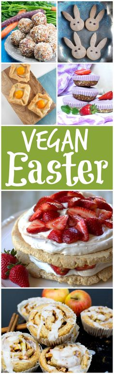 15 delicious vegan Easter recipes that will please the whole family! We've got you covered with breakfast ideas, snacks, desserts, and a couple of entrees.