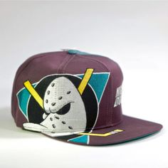 26c7265fc1643 Vintage Anaheim Mighty Ducks Snapback Hat Cap Deadstock Twins Enterprise Big