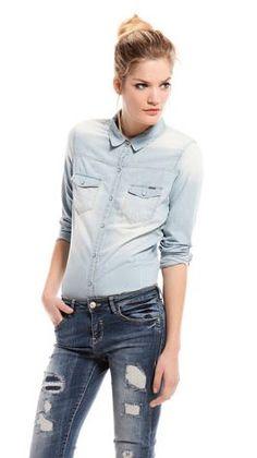 Camisa Bershka #moda #vaquero #rebajas