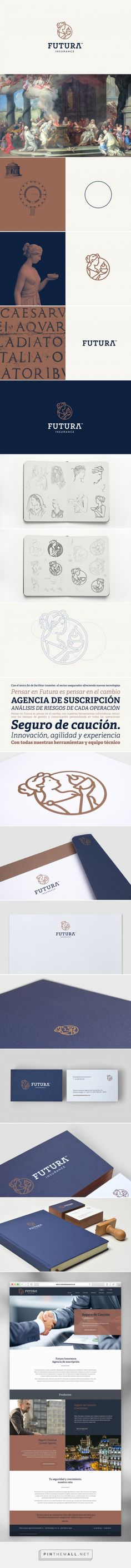 Futura Insurance. Corporate Identity on Behance... - a grouped images picture - Pin Them All