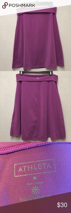 Athleta | Skirt Incredibly soft Athleta skirt. Size medium. Hits at knees. Has roll down waist. Light purple in color. In great condition. Athleta Skirts