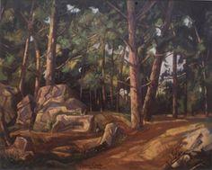 Pinar en la Capelada 92 X 73 cm Alfonso Crespo Fernandez