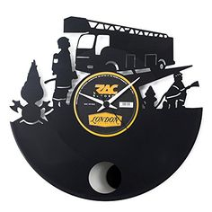 Vinyluse vinyl wall clock Fireman with pendulum ** Offer can be found by clicking the VISIT button