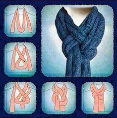 New scarf knot... nice!