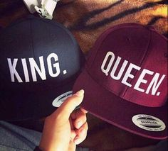 Black King, Maroon Queen Couple Hat