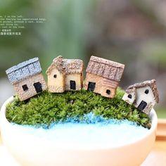 дом орнамент сказочный сад миниатюры гнома мох террариум декора, смолы ремесел бонсай декор дома