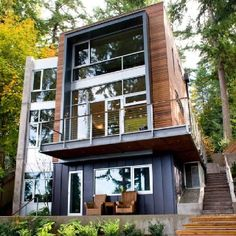 Dorsey Residence From West   Modern   Exterior   Seattle   By Coates Design  Architects Seattle