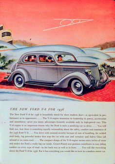 """Vintage car ads were beautiful because they infused this degree of fantasy into their worlds. The places were real or based In reality but the way the illustrations were executed give a sense of real wonder and fantasy. A much better way of saying to an audience. """"Buy our car you make what you want with it"""" instead of """"buy our car and you can be what we want you to be."""""""