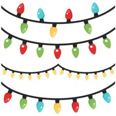 christmas lights scrapbook clip art christmas cut outs for cricut rh pinterest com christmas lights clipart black and white christmas lights clipart black and white