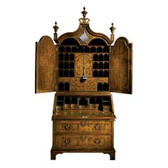 Shop For Baker Queen Anne Bureau Cabinet, And Other Home Office Desks At Hickory  Furniture Mart In Hickory, NC. The Delicate Walnut Bureau Cabinet Is ...