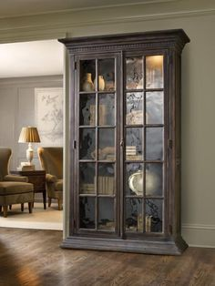 Hooker Furniture DaValle Display Cabinet with 4 Shelves and Seeded Glass Doors Living Room Display Cabinet, Living Room Cabinets, Display Cabinets, Hooker Furniture, Bedroom Furniture, Accent Furniture, Corner China Cabinets, Furniture Catalog, Furniture Online