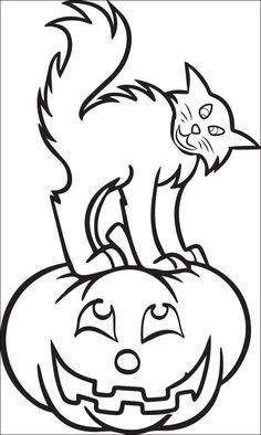 Pumpkin and Cat Coloring Page Pumpkin and Cat Coloring Page. Pumpkin and Cat Coloring Page. Pumpkin and Cute Cat Coloring Stock Vector Illustration Of in cat coloring page Pumpkin and Cat Coloring Page 17 Best Stock Halloween Cat Coloring Page Of Pumpkin and Cat Coloring Page