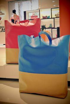 celine bi-cabas two-tone shopper tote bag