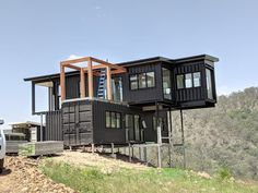 The Binderra Container Homes 038 Pop-Up Shops Building A Container Home, Container Cabin, Storage Container Homes, Container House Plans, Sea Container Homes, Cargo Container, Shipping Container Buildings, Shipping Container Home Designs, Shipping Containers