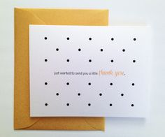 Letter-Writing Campaign: The Paper Chronicles. Cute Thank You card from Dotted Design Studio #Stationery #Paper