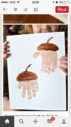 Handprint Acorn Art Project craft for kids. Handprint Acorn Art Project craft for kids. Handprint Acorn Art Project craft for kids. The post Handprint Acorn Art Project craft for kids. appeared first on Craft for Boys. Daycare Crafts, Classroom Crafts, Baby Crafts, Crafts For Kids To Make, Art For Kids, Kids Crafts, Fall Art For Toddlers, Autumn Art Ideas For Kids, Autumn Crafts Kids