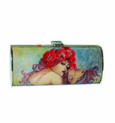 Ručne maľovaná spoločenská kabelka 7111 inšpirovaná motívom Alfons Mucha